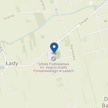"""""""Bajkowe Przedszkole"""" w Ładach na mapie"""